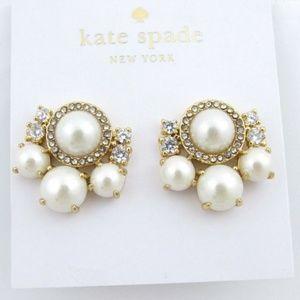 Kate Spade New York Pearl Cluster Stud Earrings
